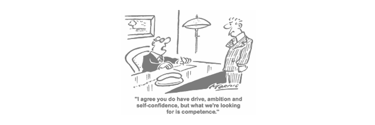 Confusing confidence with competence