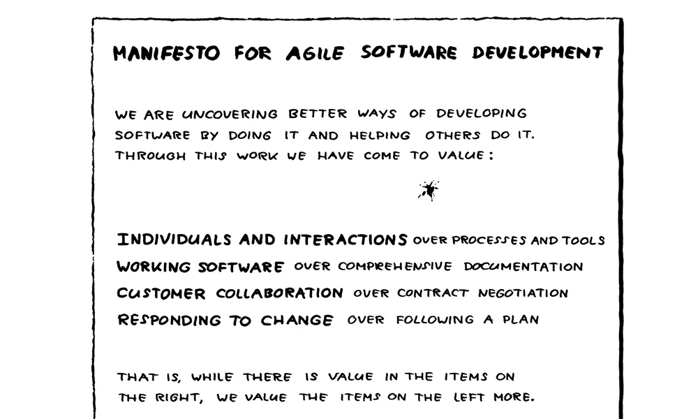 No. Agile does not scale (link share)
